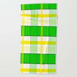 Yellow and Green Plaid Beach Towel