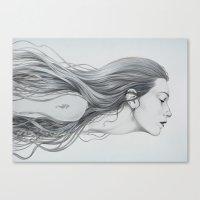 mermaid Canvas Prints featuring Mermaid by Diego Fernandez