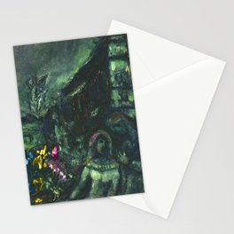 Wedding Night, Paris, Avenue of the Opera House by Marc Chagall Stationery Cards