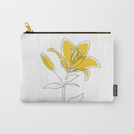 Mustard Lily Carry-All Pouch