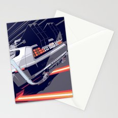 Back to the Future Delorean Time travel Artwork Stationery Cards