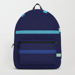 Abstract Minimal Retro Stripes Surf Backpack