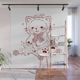 The Adventures of Bear and Baby Bear-Cats Wall Mural