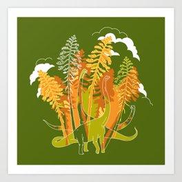 Brachio Grove Art Print