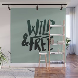 Wild & Free x Olive Green Wall Mural