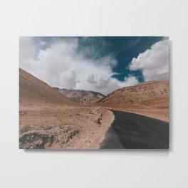 Amazing Roads of Ladakh Metal Print