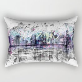 Modern Art NEW YORK CITY Skyline | Splashes Rectangular Pillow