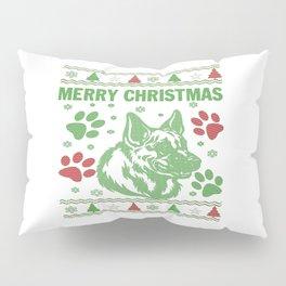 German Shepherd Christmas Pillow Sham
