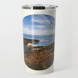 Autumn Forest Meets Ocean Travel Mug