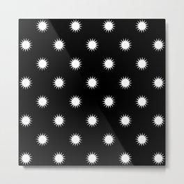 White sun pattern Metal Print