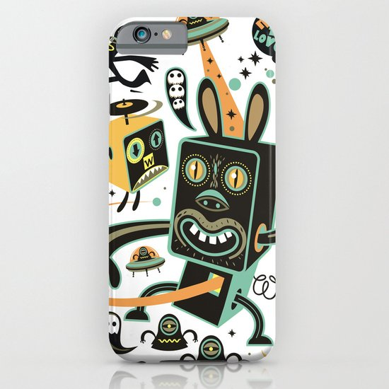 Little Black Magic Rabbit iPhone & iPod Case