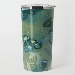 Bamboo Bubbles Cyanotype Travel Mug