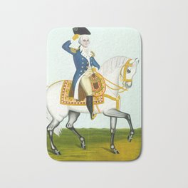 General Washington on a White Charger, 1835 Bath Mat