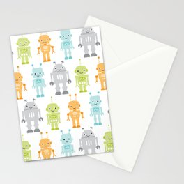 Robots Stationery Cards