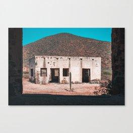 Abandoned building in Baja California Sur Canvas Print