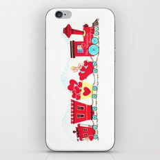 Vintage Valentine Day Card Inspired - Love, Romance, Romatic, Red, Hearts, Cherub, Angels iPhone & iPod Skin