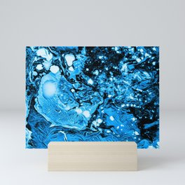 Blue in Abstract Painting Mini Art Print