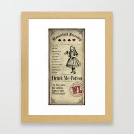 Wonderland Inventory Labels - Drink Me Potion Framed Art Print