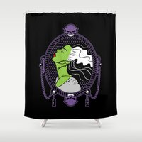 bride Shower Curtains featuring Bride by Buby87