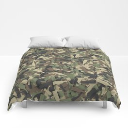 Forest alcohol camouflage Comforters