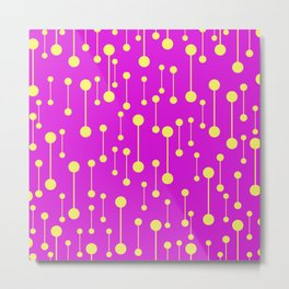 Bonded - Minimalistic Pattern In Purple And Yellow Metal Print