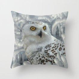 Snowy Owl Sanctuary Throw Pillow