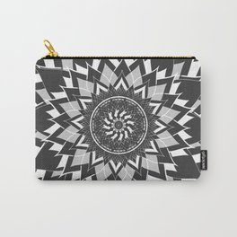 GREY, BLACK AND WHITE FLOWER OF LIFE Carry-All Pouch