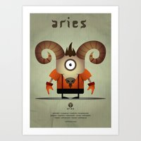 aries Art Prints featuring ARIES by Angelo Cerantola
