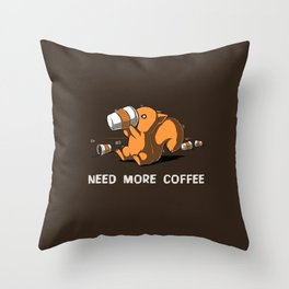 Squirrel's Coffee Throw Pillow