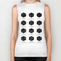 zodiac Biker Tanks featuring Zodiac by Dorothy Leigh