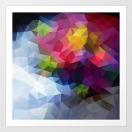 Low Poly Art Colourful Art Print