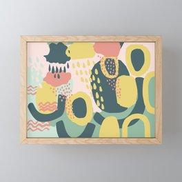 Hide and seek #vectorart #graphic #pattern #joy Framed Mini Art Print
