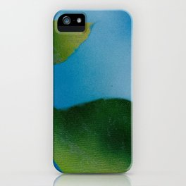 Green Leaves falling iPhone Case