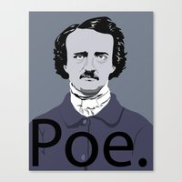 poe Canvas Prints featuring Poe. by Tara Durrant Designs