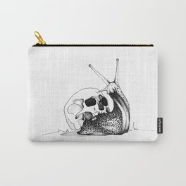 This Skull Is My Home (Snail & Skull) Carry-All Pouch
