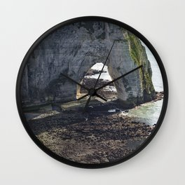 French chalk cliffs at low tide Wall Clock