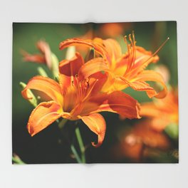 Day Lily Dance Throw Blanket