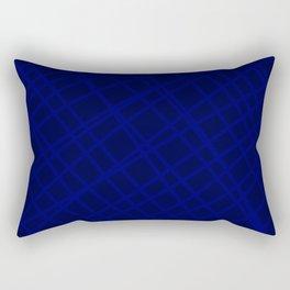 Indigo Criss-Cross Lines Rectangular Pillow