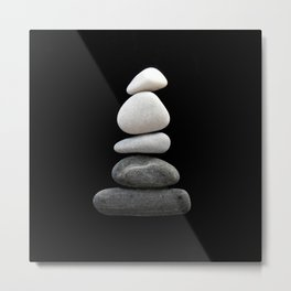 balance pebble art Metal Print