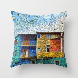 Buenos Aires Travel Collage Throw Pillow