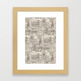 Edinburgh toile natural Framed Art Print