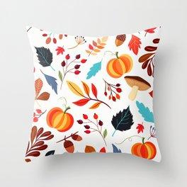 Autumn Pattern Throw Pillow