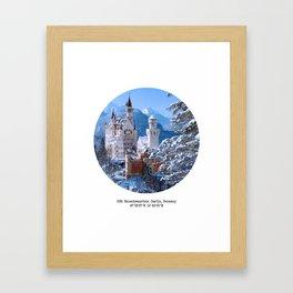 008: Neuschwanstein Castle Framed Art Print