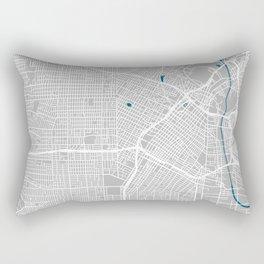 Los Angeles city map grey colour Rectangular Pillow