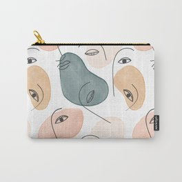 Minimal Figurative Pattern Carry-All Pouch