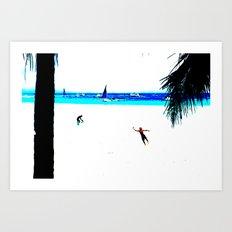 Borocay Beach Dive - Happy Place Art Print