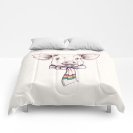 Pig and scarf Comforters