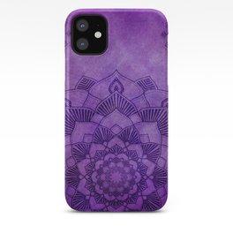 Purple Mandalas Spiritual Zen Bohemian Hippie Yoga Mantra Meditation iPhone Case
