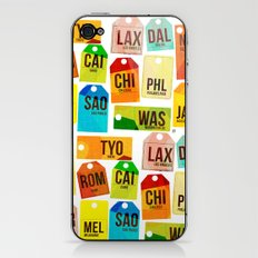 Travel Tags iPhone & iPod Skin