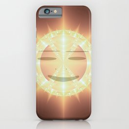 Midday sun smile iPhone Case